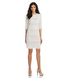 Jessica Howard Lace Shift Dress #Dillards