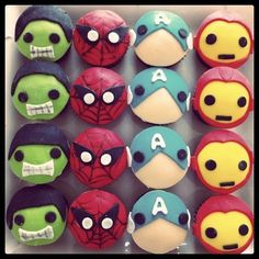 Superhero cupcakes by D'Bakery