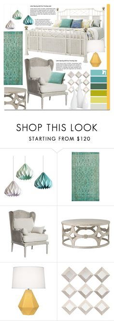 """""""The Colours of Spring"""" by undercover-martyn ❤ liked on Polyvore featuring interior, interiors, interior design, home, home decor, interior decorating, Universal Lighting and Decor, Robert Abbey, WALL and Mitchell Gold + Bob Williams"""