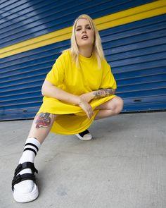 #iMikriOllandeza #MikriOllandeza #casualstyle #ootd #everydaystyle #casualfashion #everydayfashion #howto #howtostyle #yellowdress #dress #puma #pumasandals #sandals #sandalswithsocks #yellowoutfit #maxidress #tattooideas #tattoo #tattoosleeve #sleevetattoo #tattooedgirls #aesthetic #2020 #egirl #altgirl #blonde #blondehair #blondegirl Puma Sandals, Street Outfit, Yellow Dress, Girl Tattoos, Everyday Fashion, Sleeve Tattoos, Blonde Hair, Ootd, Outfits
