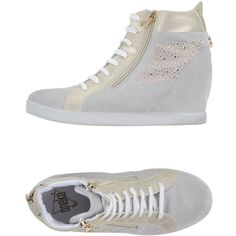 Onako' High-tops & Trainers ($125) ❤ liked on Polyvore featuring shoes, sneakers, light grey, high top shoes, hi tops, high top sneakers, wedge sneakers and wedge heel sneakers