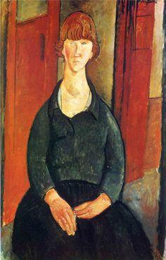 Amedeo Modigliani. Vendedora de flores, 1919. óleo sobre lienzo. Metropolitan Museum of Art, NY. WikiPaintings.org - the encyclopedia of painting