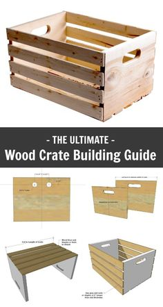 Wood crates are so versatile, beautiful and useful! You may have the scrap wood lying around already to build your own in minutes for free. And let's not forget if you build your own wood crates, you