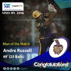 Elegant performance of a breathtaking 49 runs in 25 balls, gets rewarded with a Man of the Match Award. Man Of The Match, Balls, Congratulations, Baseball Cards, Running, Elegant, Classy, Keep Running, Why I Run