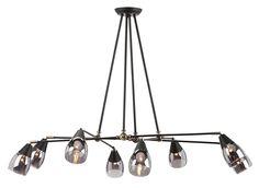 Nuevo Living Lanister 8 Pendant Lamp, Matte Black | Matthew Izzo