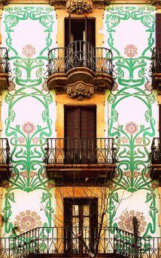 Modernista building facade - Barcelona