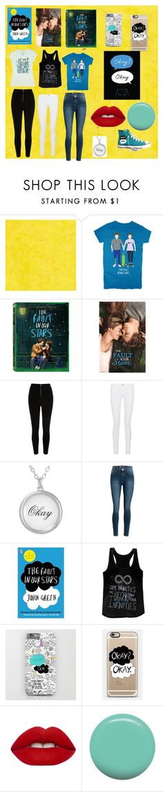 """""""Fault In Our Stars"""" by caseyu16 on Polyvore featuring River Island, Frame Denim, Casetify, Lime Crime and Jin Soon"""
