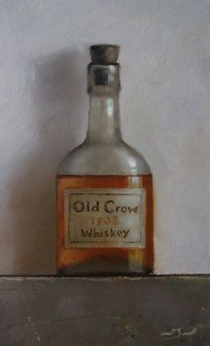 Original Oil Painting - Old Crow Whiskey - Vintage/Retro Still Life Art - Nelson