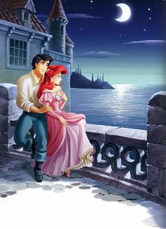 princess ariel & prince eric. this is the cutest pic ever. wish it was meg and ferdinand. i know they dont go together but they're my two favorites :) the broken weird one and the brunette singing one :)