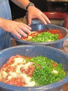 Making Cajun Green Onion Sausage