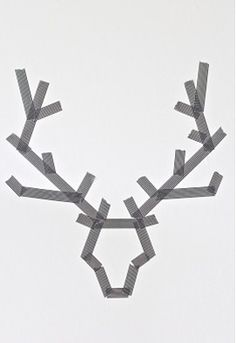 #CHRISTmas - Fun project for the kids - Tape canvas or foam board in reindeer pattern and the kiddos can paint easily. Of course they will be proud of their design once the tape is removed and reveals their reindeer!