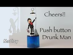 DIY Push button puppet. Drunk Man or cute child swinging etc.- Polymer clay tutorial - YouTube