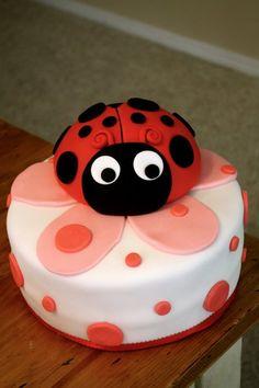 LadyBug Cake Cricket's Cafe