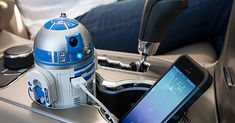 Star Wars collectibles: No need to go to Tosche Station, charge your smart phone or other devices with this R2-D2 USB car charger - http://fngsm.com