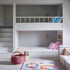 Built-in Bunk Beds in Kids' Bedroom Ideas on HOUSE by House & Garden. Fun ideas for kids' bedrooms that don't scrimp on style