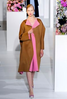 The trend of oversized coats has carried on from Fall of 2012 runways. Voluminous coats are coming back into style and carries a vintage look with it. ~Stephanie W.