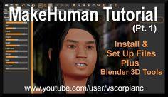 MakeHuman Tutorial (Pt.1) Install Make Human & Set up Blender 3D Tools b...