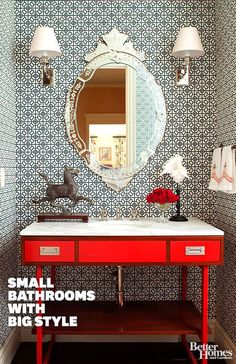 Make the most of your small spaces with these wonderful bathroom ideas: