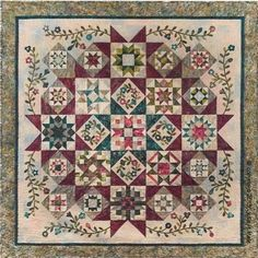 Timeless Tradition Block of the Month from Happiness is Quilting in McKinney tx