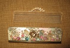 Vintage Shell pocket Comb Mirror shells fish pocket vanity ladies sea | eBay
