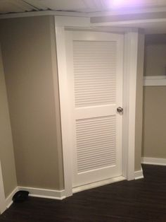 Louvered Door Laundry Room