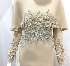 baju nikah terkini 2017 Oh the time spent on detailed hand work. Abaya Fashion, Muslim Fashion, Modest Fashion, Fashion Dresses, Trendy Fashion, Abaya Mode, Mode Hijab, Muslim Wedding Dresses, Muslim Dress