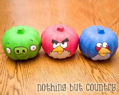 Angry Bird Style Pumpkins