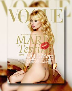 Vogue Brazil May 2011 Cover   Kate Moss by Mario Testino