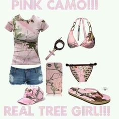 Pink camo goodies! Get it at www.thecamoshop.com.