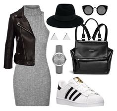 urban by simonabartoletti on Polyvore featuring polyvore adidas Givenchy Burberry Jennifer Meyer Jewelry Maison Michel Quay fashion style clothing