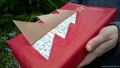 Christmas tree wrapping idea. Tee kurkistuskuusi joululahjapakettiin.