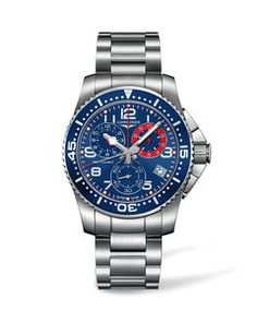 Men watches: Watches best price Longines HydroConquest Chronograph Blue Dial Stainless Steel Mens Watch L36904036