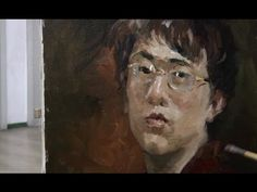 Oil Painting Portrait's Man Real-Time - YouTube