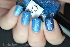 Gradient with glitter! | Nails by Kayla Shevonne: Candeo Colors - Glacier