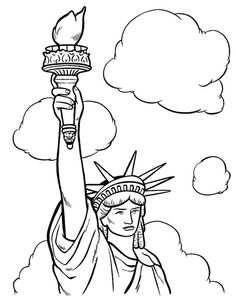 Patriotic Symbols FREE to print Liberty Bell Coloring Pages