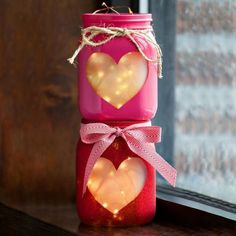 mason jar crafts are a lovely way to diy your next party or decorate your favorite room in the house. check out these lovely diy mason jar ideas to learn how to paint your mason jars. Diy Valentine's Day Decorations, Valentines Day Decorations, Valentine Day Crafts, Decor Ideas, Decorating Ideas, Craft Ideas, Diy Ideas, Creative Ideas, Decor Diy