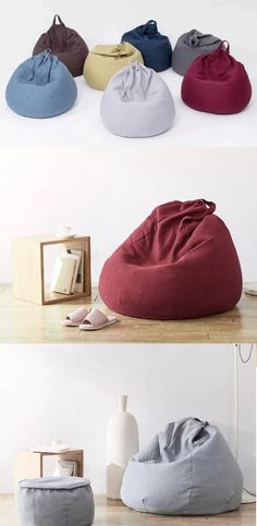 Stylish, super-comfortable bean bags – perfect for living room, reception or lounging around. Bean Bag Gaming Chair, Bean Bag Chair, Bean Bag Living Room, Modern Bean Bags, Bean Bag Design, Bean Bag Furniture, Cane Baskets, Kids Living Rooms, Accent Chairs Under 100
