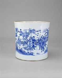 Brush Pot with King Wen Visiting the Scholar Jiang Taigong  Period:     Ming dynasty (1368–1644), Chongzhen period (1628–44) Date:     mid-17th century Culture:     China