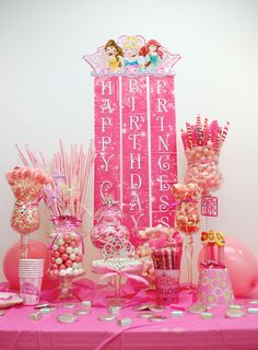 Princess Candy Buffet!