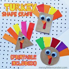 Shape Turkey Craft (template included)
