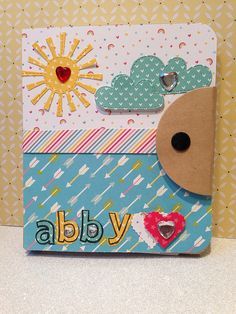 Lawn Fawn - Spring Showers Lawn Cuts, Quinn's ABCs + coordinating dies, Let's Polka 6x6 paper, Hello Sunshine 6x6 paper, Daphne's Closet 6x6 paper_ cute journal cover by Abby Brown, age 9 via Flickr - Photo Sharing!