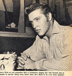 Elvis Presley (aka Clint Reno) behind the scenes of LOVE ME TENDER - August/ September 1956