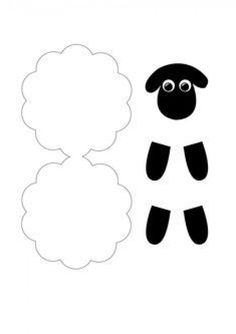 sheep template for crafting - Bastelarbeiten - Projets Diy Sheep Crafts, Bible Crafts For Kids, Preschool Crafts, Easter Crafts, Art For Kids, Lamb Craft, Eid Cards, Shaun The Sheep, Church Crafts