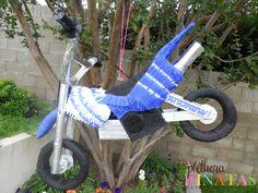 Dirtbike Piñata for my boys bday parties