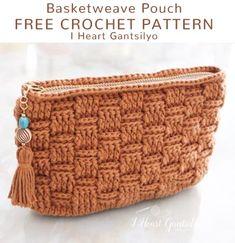 A free crochet pattern of a basketweave pouch. Do you also want to crochet the basketweave pouch Read more about the Free Crochet Pattern Basketweave Pouch. Crochet Clutch Bags, Crochet Coin Purse, Crochet Pouch, Crochet Handbags, Crochet Purses, Free Crochet, Purse Patterns Free, Crochet Purse Patterns, Wallet Pattern