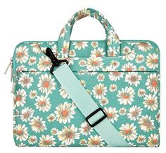 Mosiso Bohemian Style Fabric Laptop Sleeve Case Cover Bag with Shoulder Strip for 15156 Inch MacBook Pro Notebook Computer Golden Aster * Read more  at the image link.