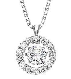 vibrating diamond necklace | Home / Jewelry / Rhythm of Love / Rhythm of Love Pendant in 14K WG - 1 ...