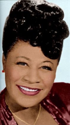 Ella Fitzgerald - Jazz singer- famous for scatting - colorized by D' Lynn