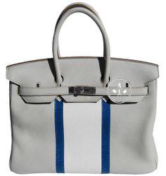 Créateurs de Luxe - 35cm Hermès Club Taurillon Clemence Leather Birkin  Handbag - Palladium Hardware Hermes c636bc1dabd86