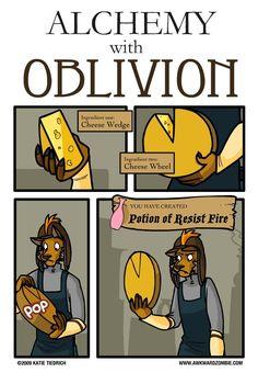 AWKWARD ZOMBIE - Alchembrie   Elder Scrolls IV: Oblivion